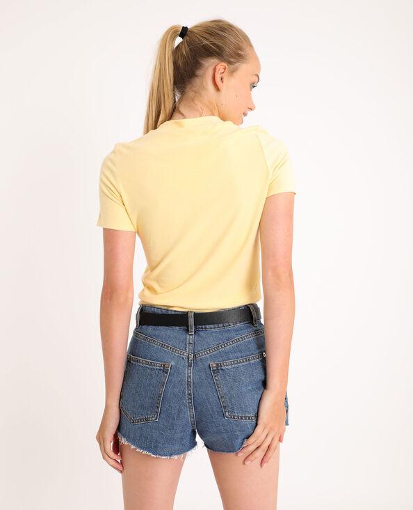 T-shirt doux jaune - Pimkie