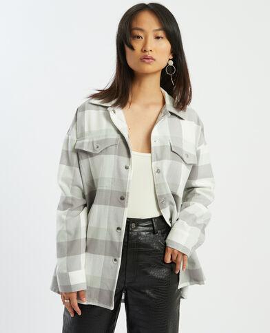 Chemise à grands carreaux noir - Pimkie