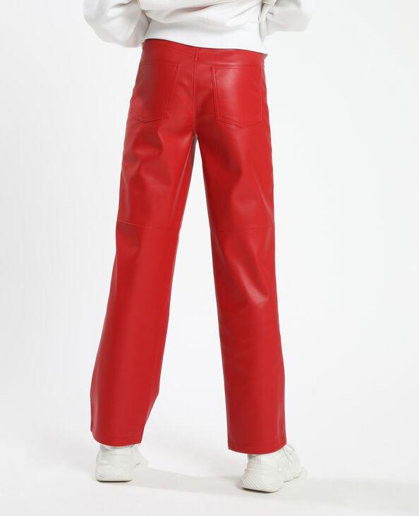Pantalon simili cuir rouge - Pimkie
