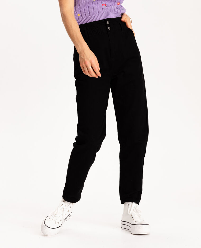 Jean paper bag noir