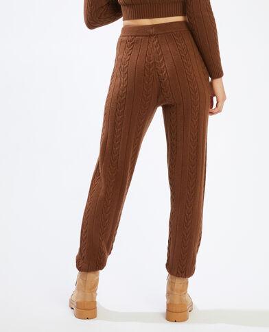Pantalon en maille torsadée marron - Pimkie