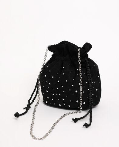 Petit sac boxy suédine noir
