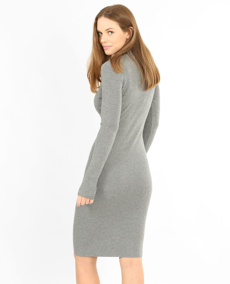 12705cbef74 Robe pull moulante gris chiné - 780759830A08