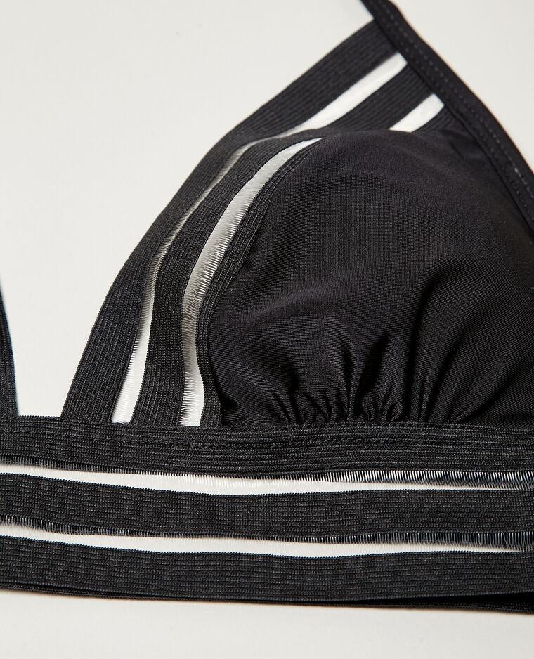 Haut de bikini bande transparente noir - Pimkie