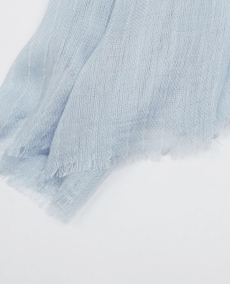Echarpe fine à rayures bleu ciel