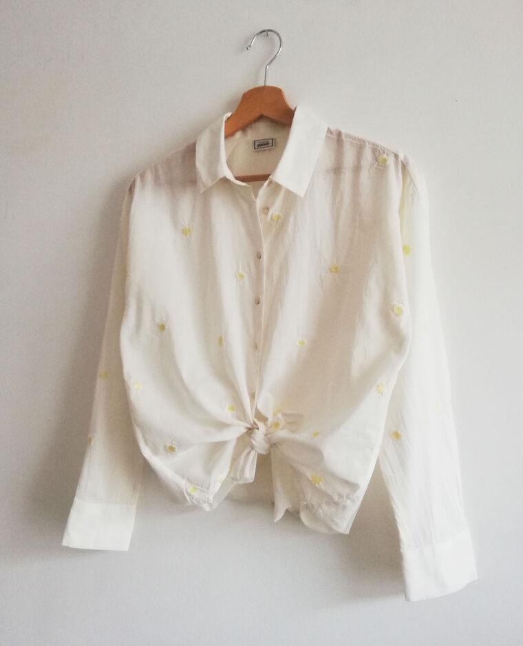 Chemise brodée blanc