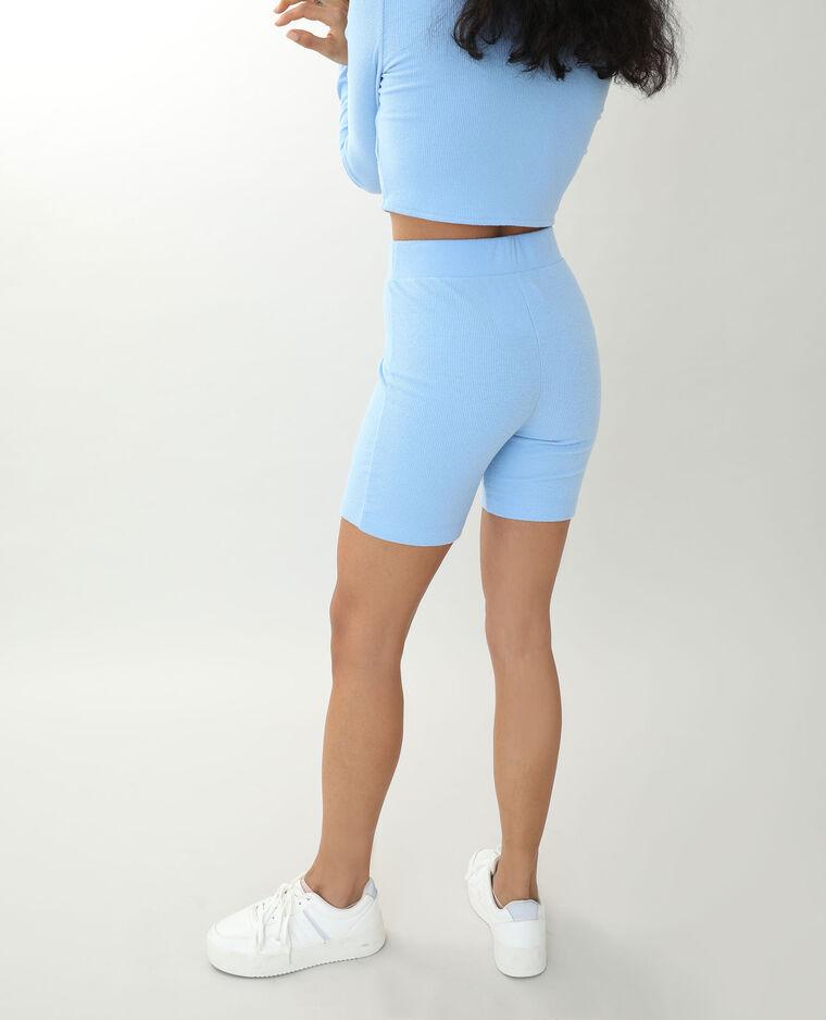 Cycliste tout doux bleu