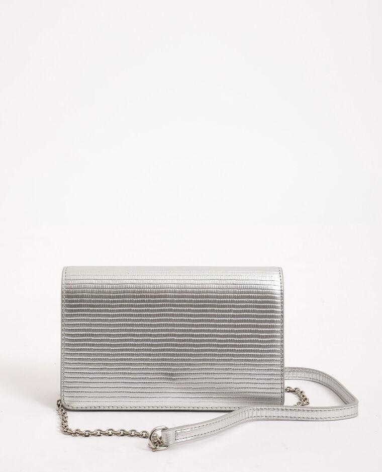 Sac bandoulière métallisé gris