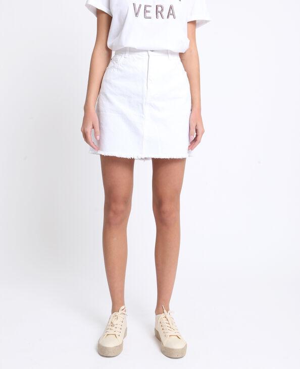 8008c028851b Jupe en jean blanc