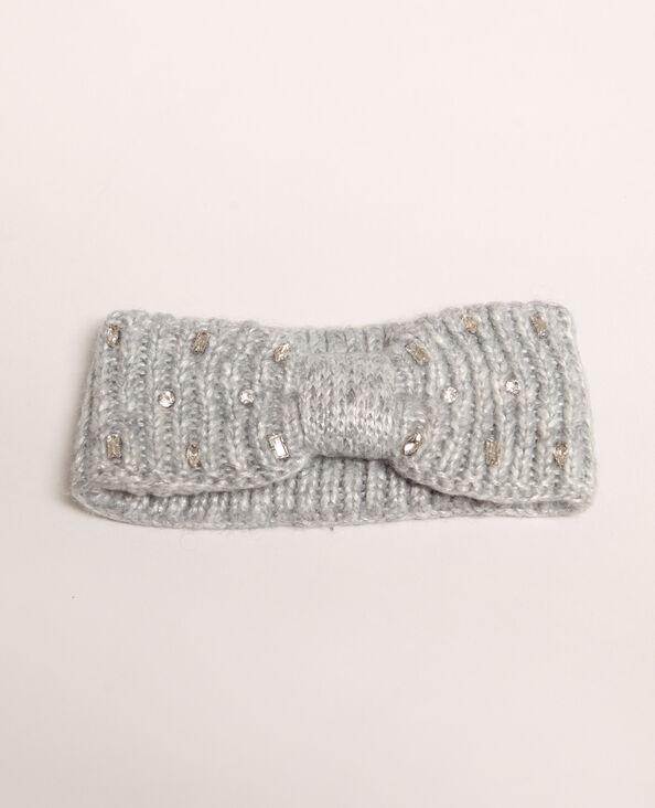 Headband à strass gris