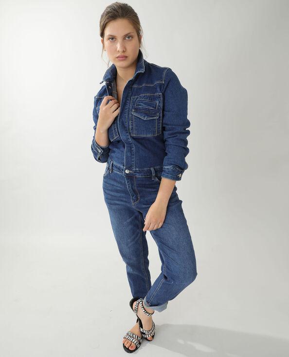 Combinaison en jean bleu denim