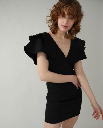 Robe volantée noir - Pimkie