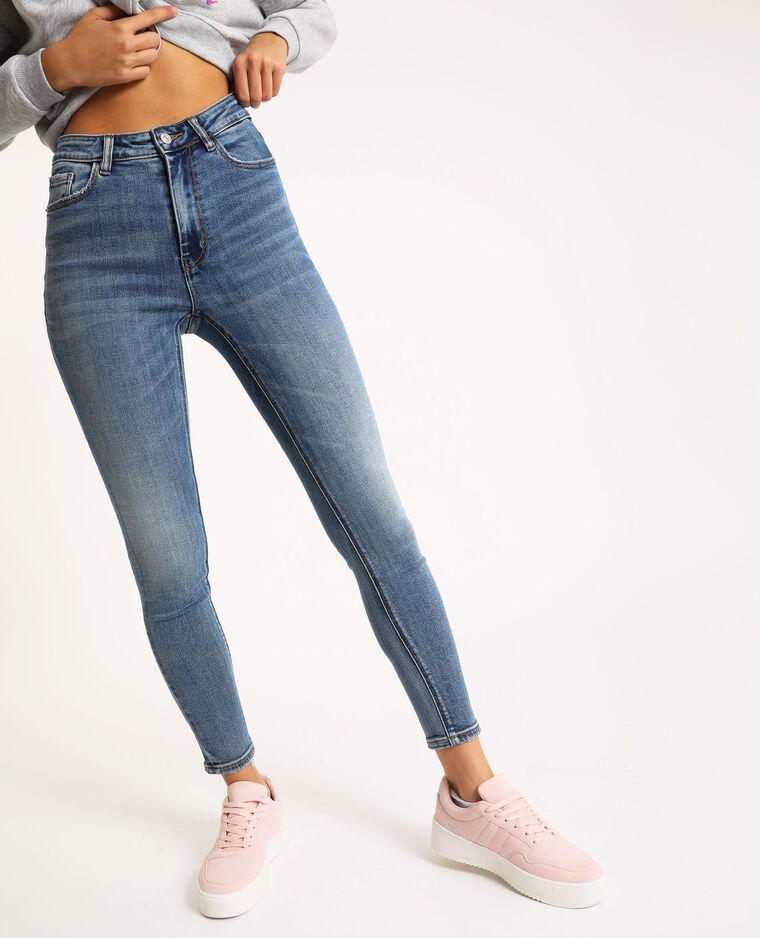 Jean skinny high waist bleu denim