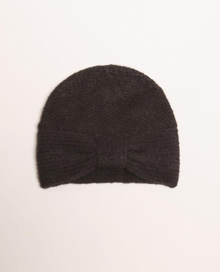 Bonnet avec nœud noir