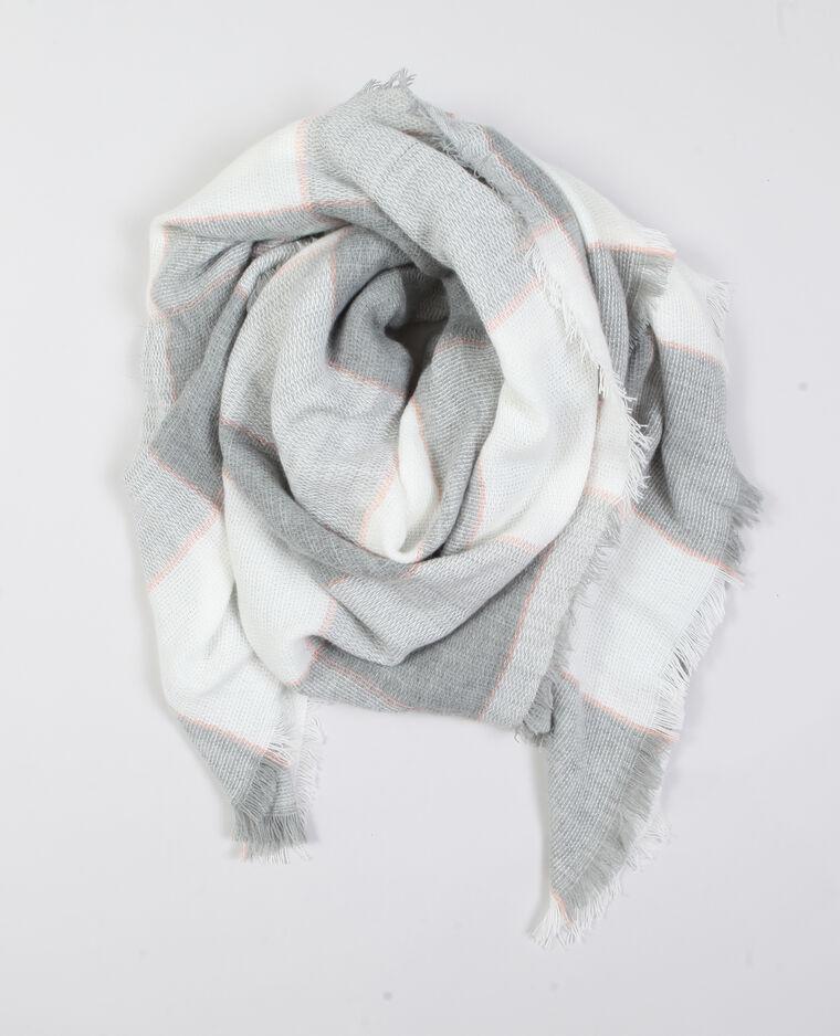 674e1ff80e10 Echarpe plaid à carreaux rose -60% - 916702200B22   Pimkie
