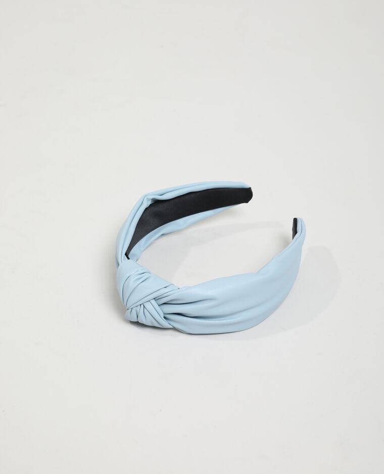 Serre-tête en simili cuir bleu - Pimkie