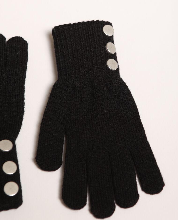 Gants boutonnés noir