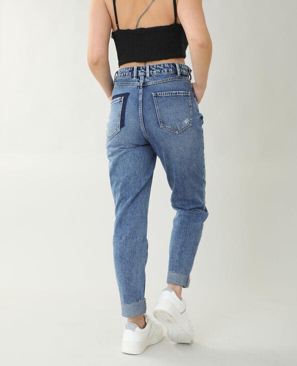 Jean straight high waist bleu brut - Pimkie