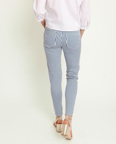 Pantalon skinny à rayures bleu aad2bf2c9ef
