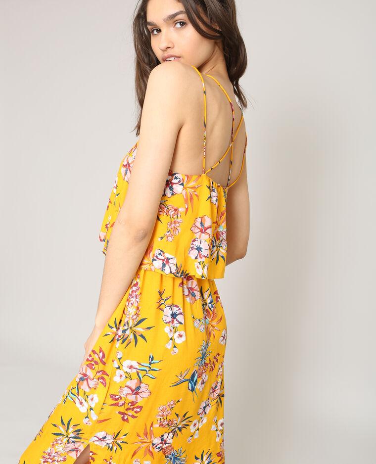 633b9e7eaf301 Robe longue à fleurs jaune - 780870061E3A | Pimkie
