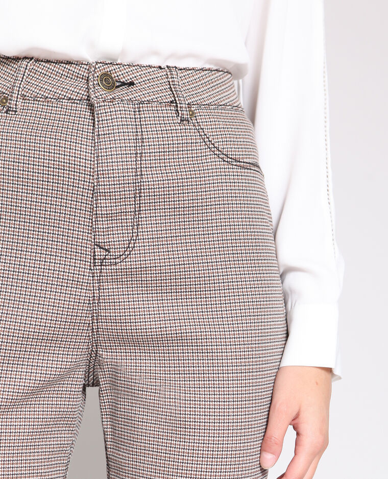 Pantalon skinny imprimé blanc