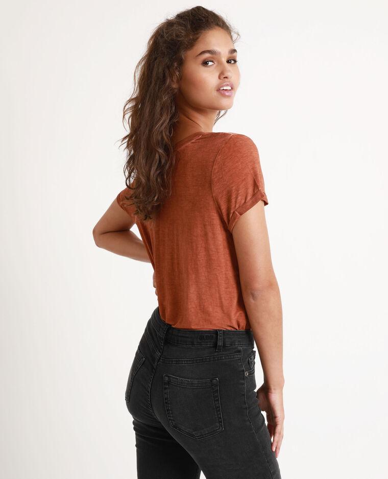 T-shirt clouté marron