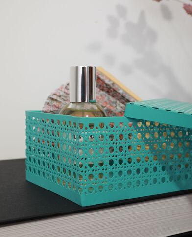 Grande boîte en métal façon cannage bleu - Pimkie