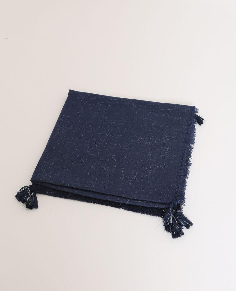 Foulard lurex bleu électrique