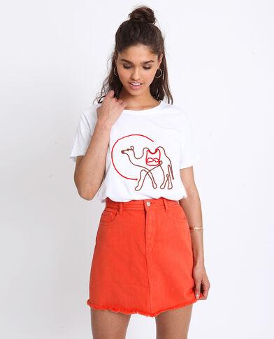 5dfbb9b8215 T-shirt brodé blanc