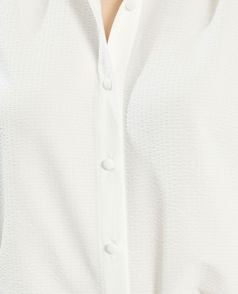 Chemise motifs en relief blanc cassé - Pimkie