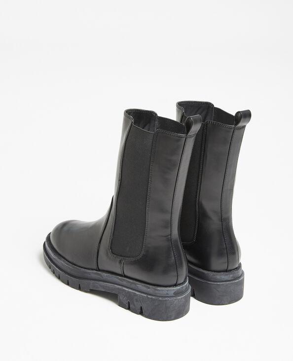 Boots faux cuir noir