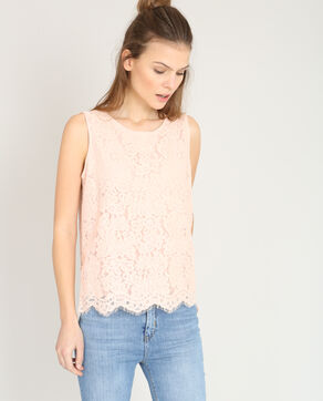 Top en dentelle rose