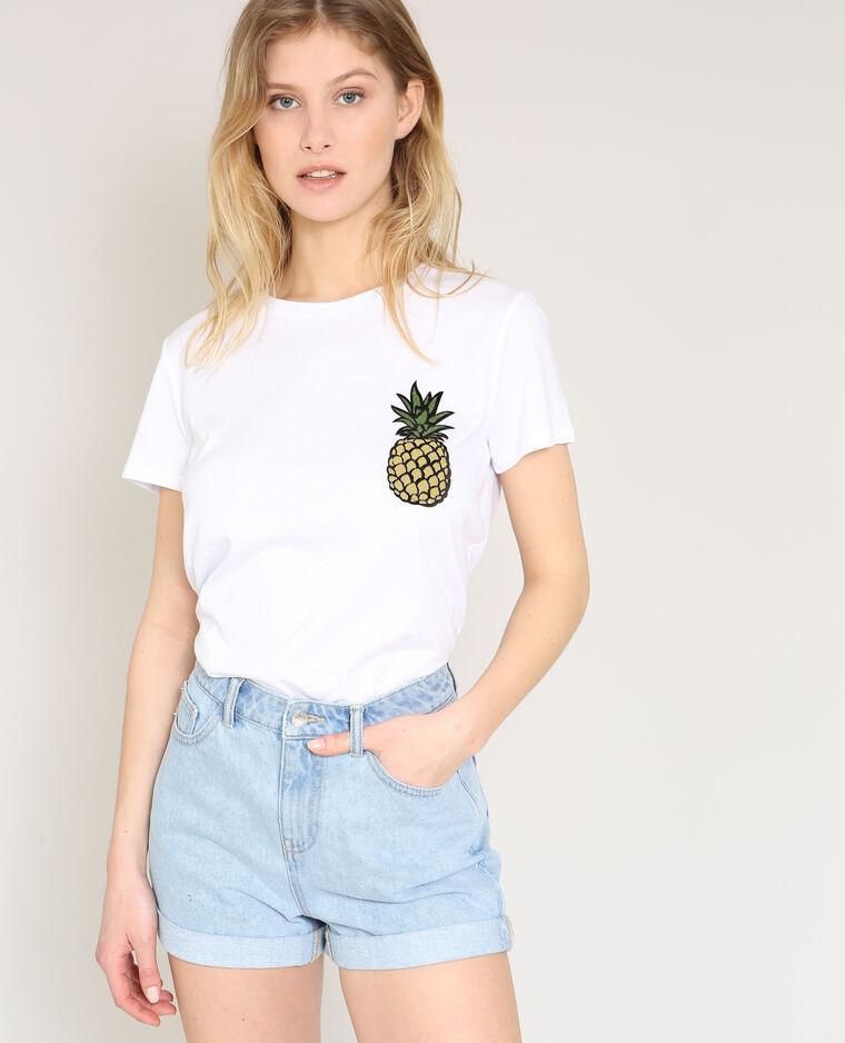 T-shirt ananas blanc