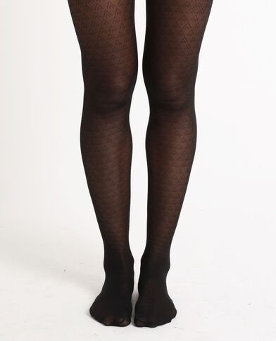 Collants à losanges noir