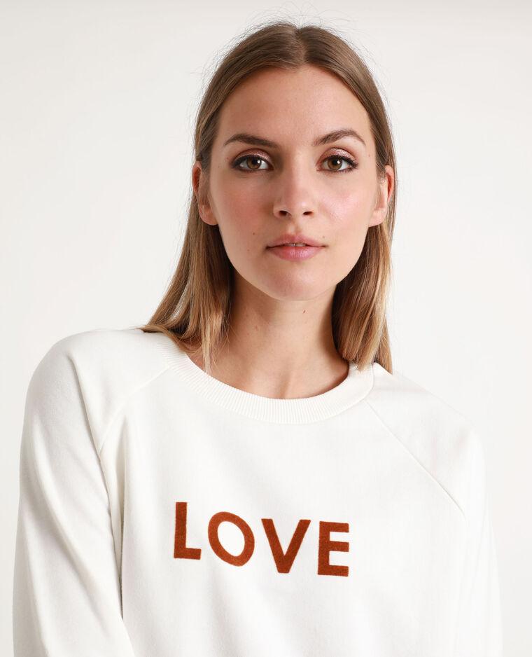Sweat LOVE blanc