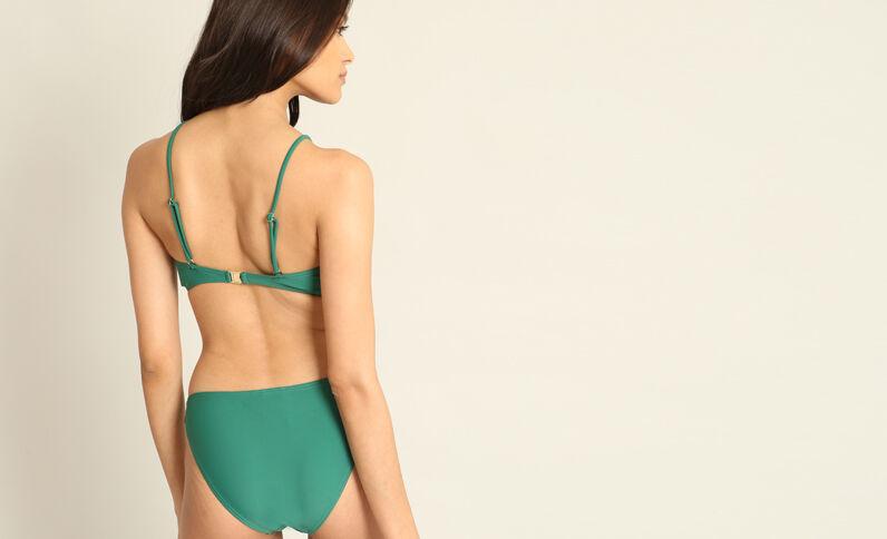 Haut de bikini à lacets vert sapin