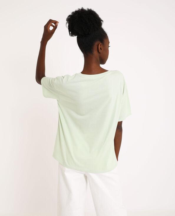 T-shirt imprimé vert