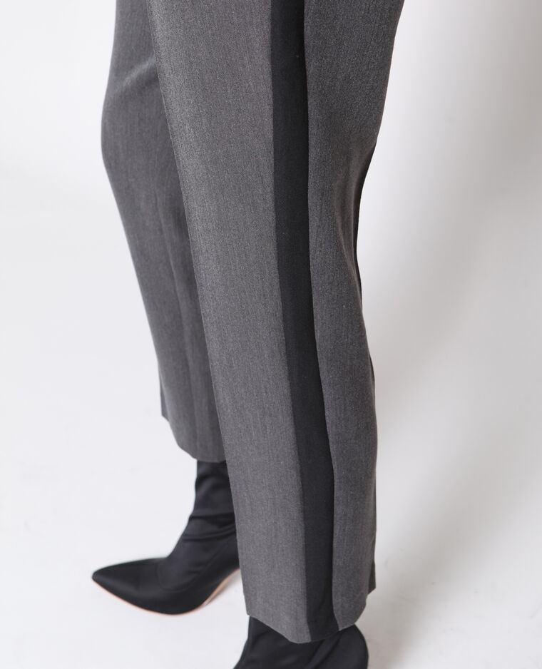 Pantalon cigarette gris anthracite