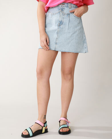 Jupe en jean bleu clair - Pimkie