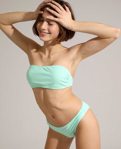Bas de maillot culotte côtelé vert pistache