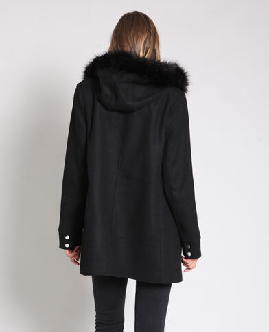 Manteau mi-long noir