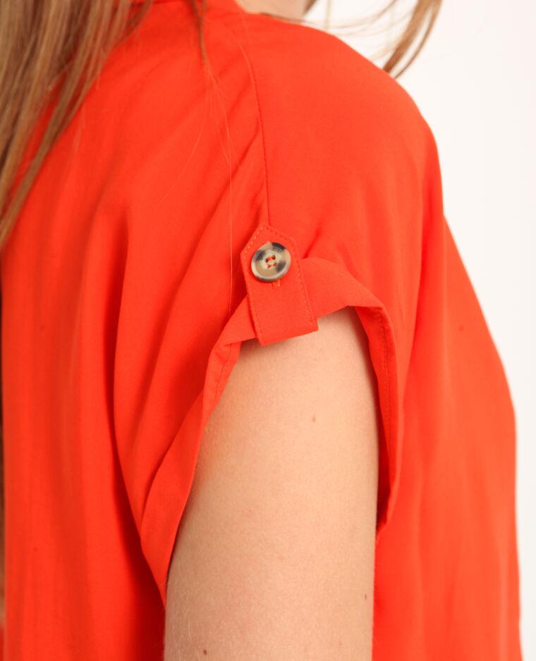 Chemise à manches courtes orange