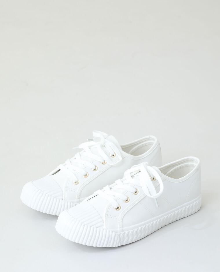 Baskets à lacets blanc cassé - Pimkie