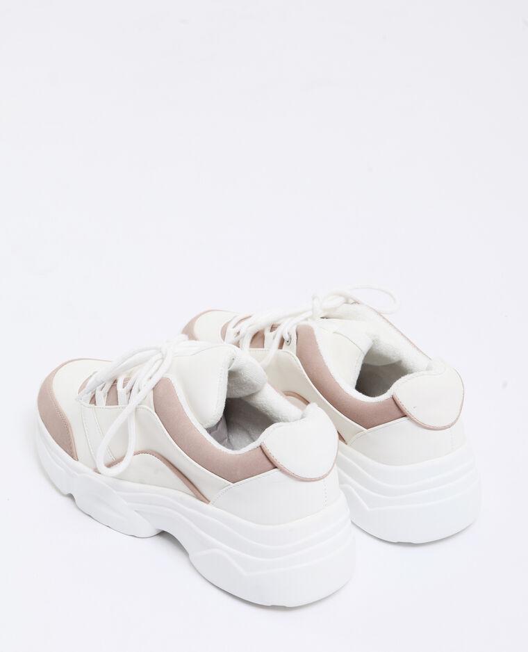 Baskets à semelles épaisses rose poudré