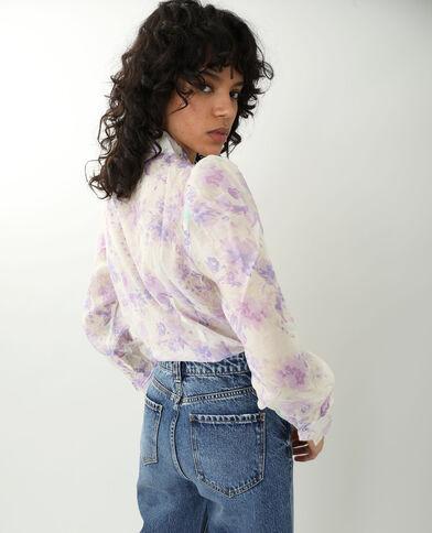 Chemise fleurie blanc