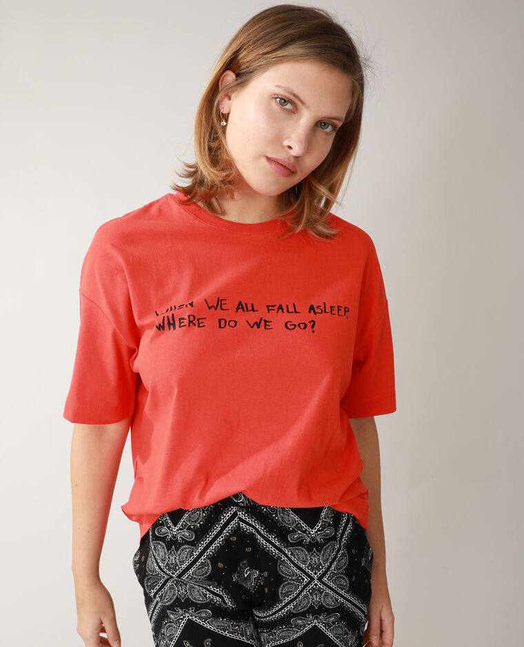 T-shirt oversize rouge - Pimkie