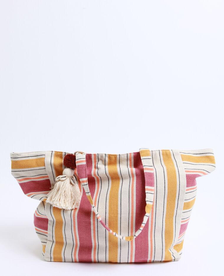 Grand sac de plage brun