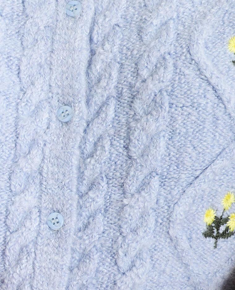 Gilet brodé bleu