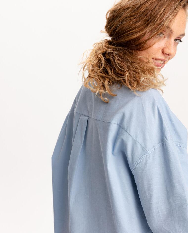 Chemise en velours bleu