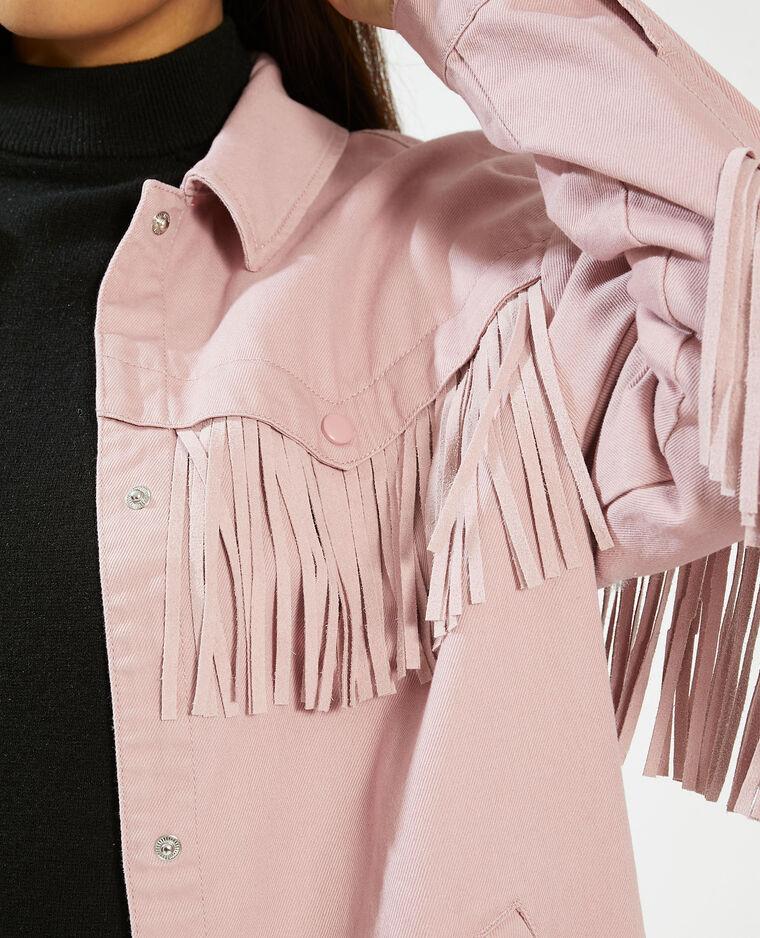 Vestes à franges rose - Pimkie